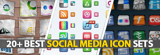 Post image of 20+ Best Social Media Icon Sets In 2011