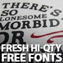Post Thumbnail of Free Fonts: 40 Fresh Hi-Qty Free Fonts