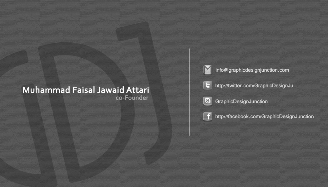Business Card Front with Large Typography