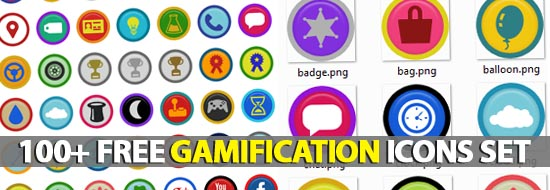 100 Free Symbly Gamification Icons Set