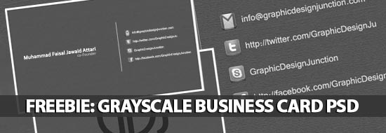 Freebie: Grayscale Business Card PSD