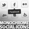 Post Thumbnail of Freebie: 30 Monochrome Social Icons