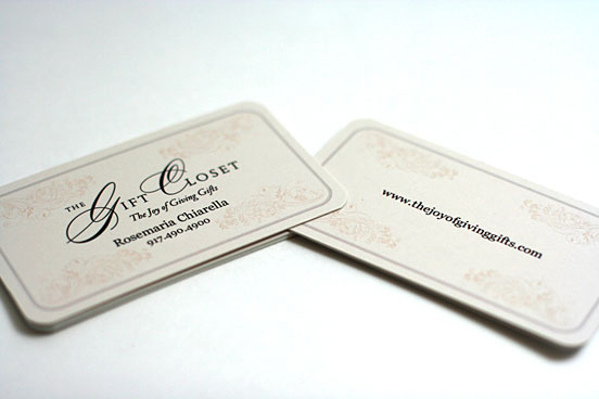 Rounded Corner Business Card Designs Design