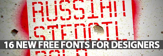 Post image of 16 New Free Fonts For Designers