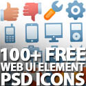 Post thumbnail of 100+ Free Web UI Element PSD Icons Pack