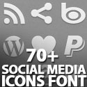 Post thumbnail of 70+ Social Icons Font (Pictograms)