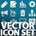 Post Thumbnail of Vector Icon Set - (60 Icons)