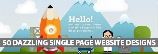 50 Dazzling Single Page Website Designs