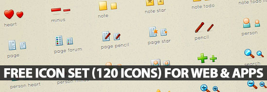 Free Icon Set (120 Icons) Perfect for Web & Apps