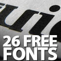 Post Thumbnail of Free Fonts: 26 Super Fonts For Graphic Designers