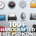 Post thumbnail of 100+ Handcrafted Free PSD Icons