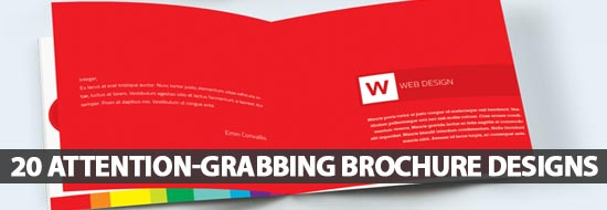 20 attention grabbing brochure designs for successful marketing