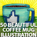 Post Thumbnail of 50 Beautiful Coffee Mug Illustration