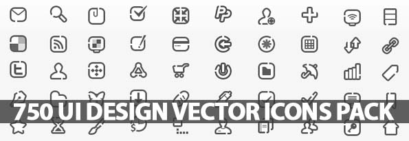 750 UI Design Vector Icons Pack | Icons | Graphic Design