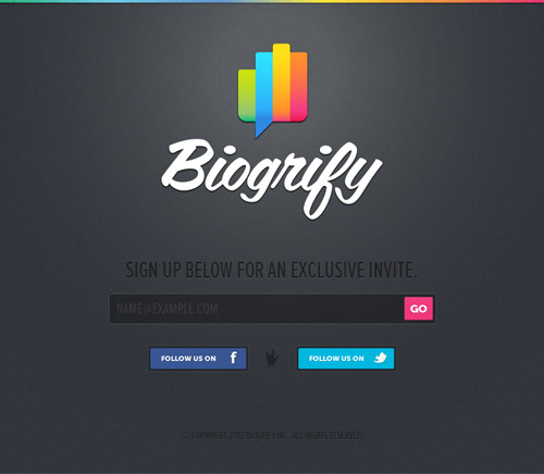 Biogrify Coming Soon Page Design
