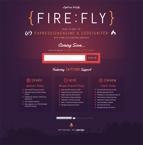 Fire Fly Coming Soon Page Design