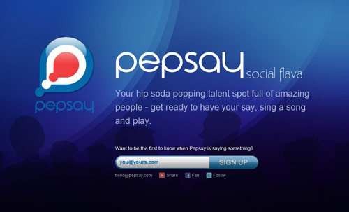 Pepsay Coming Soon Page Design