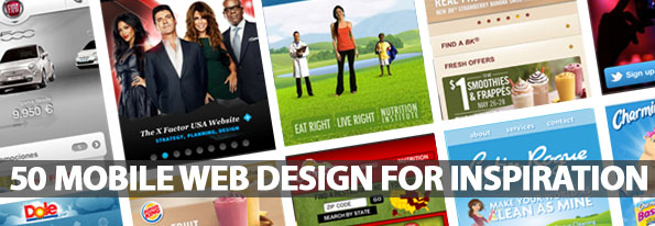 50 Mobile Web Design For Inspiration