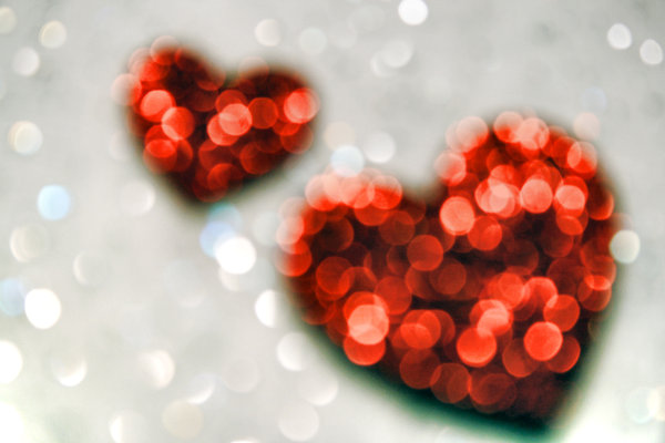 Heart-touching bokeh photography