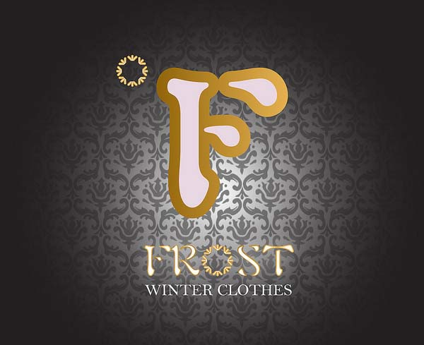 Frost water clothes logo design