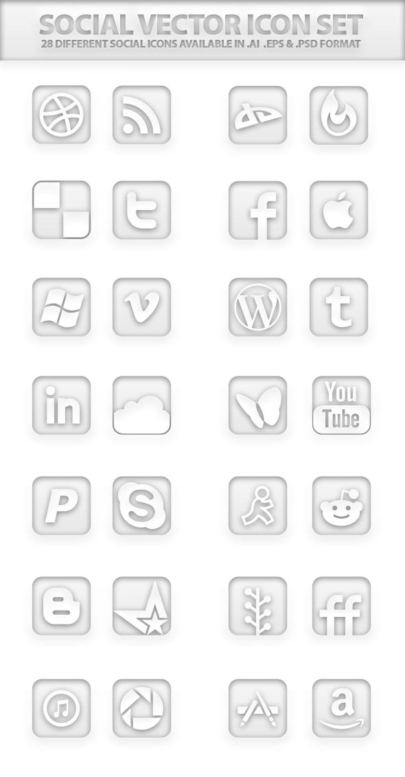 social-vector-icon-set