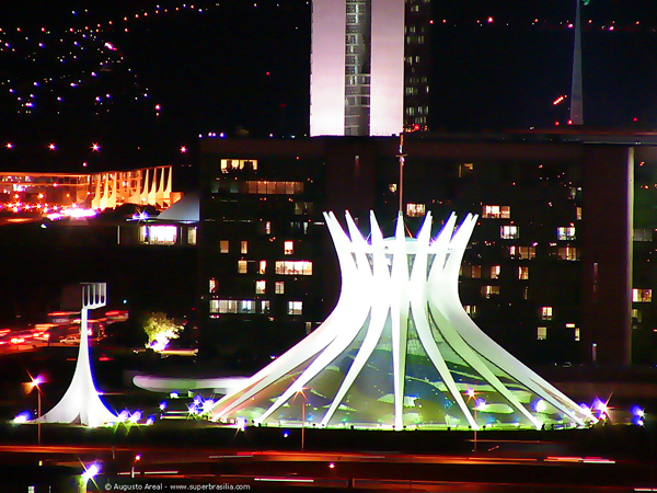Brasilia at night (Brazil)