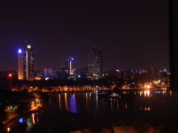 Colombo at night (Sri Lanka)