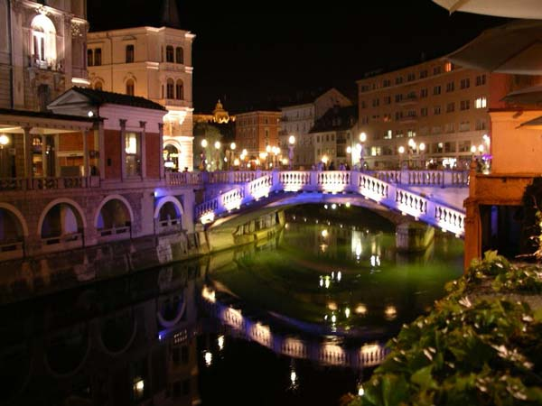 Ljubljana at night (Slovenia)