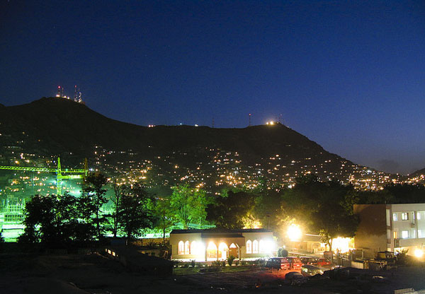 kabul at night (Afghanistan)