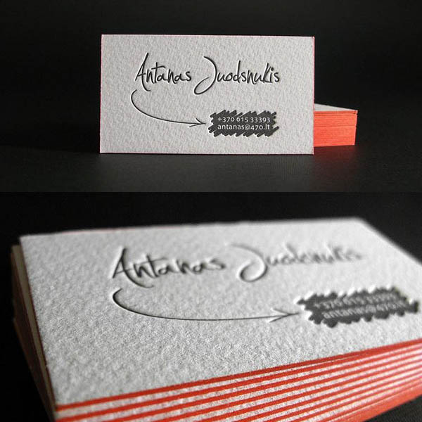 25 beautiful examples of letterpress business cards design letterpress business cards design colourmoves