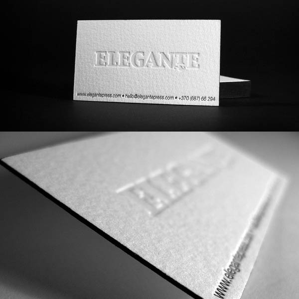25 beautiful examples of letterpress business cards design letterpress business cards design reheart Gallery
