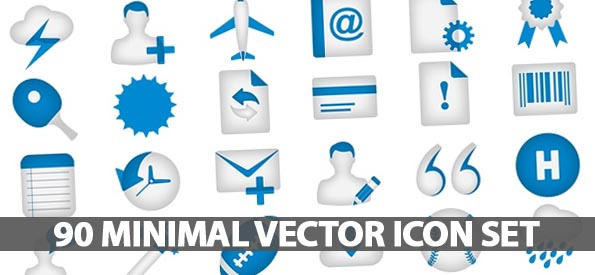 90 Beautifully Design Minimal Vector Icon Set