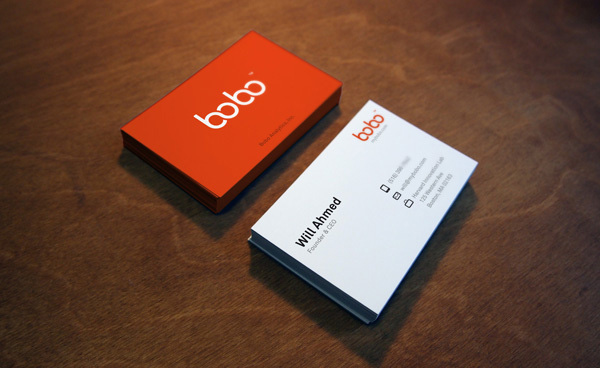 bobo logo business card