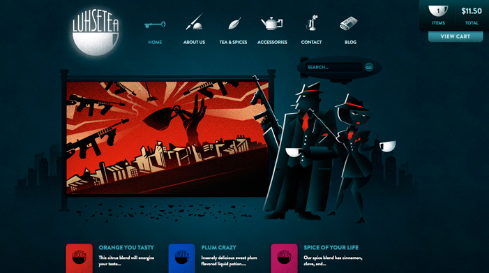 Beautiful Examples Of Dark Colors In Web Designs