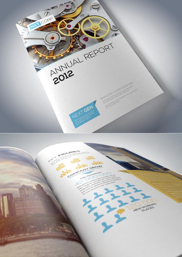 corporate brochure designs 25 inspiring examples design graphic