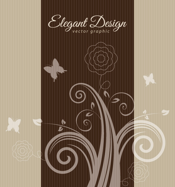 Elegant Brown Design Vector Graphic