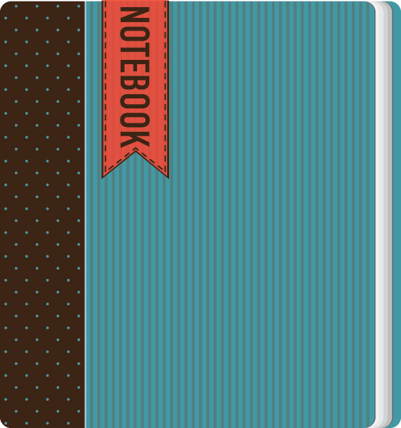 Notebook Design Vector Graphic