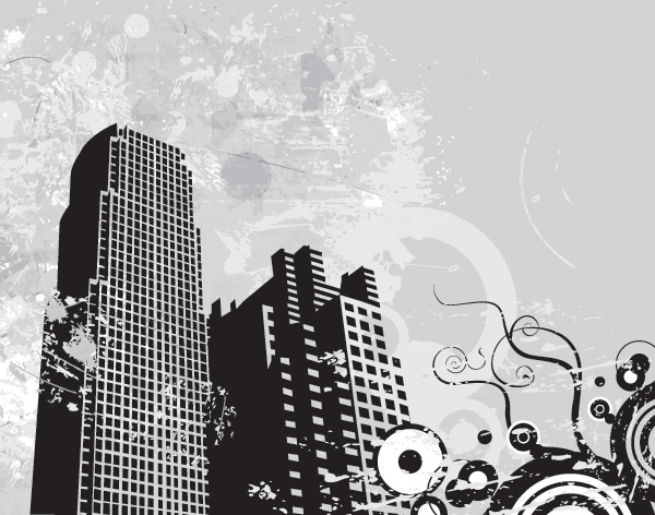 Urban Landscape Vector Graphic