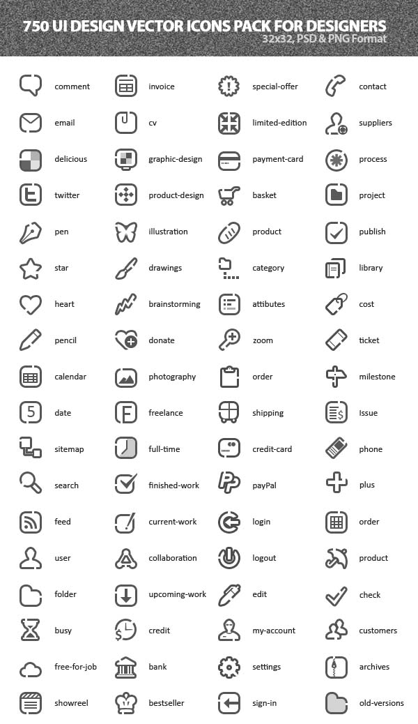 Free Vector Icons Pack 11
