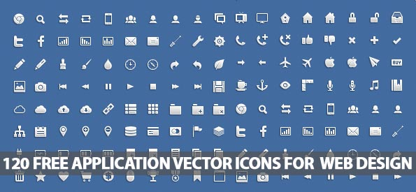 120 Free Application Vector Icons For Web Designers