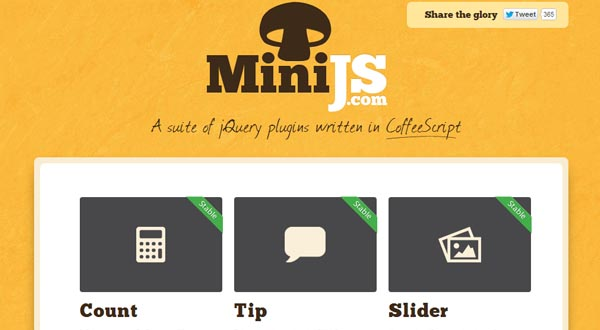 MiniJs: A Suite Of jQuery Plugins Written In CoffeeScript