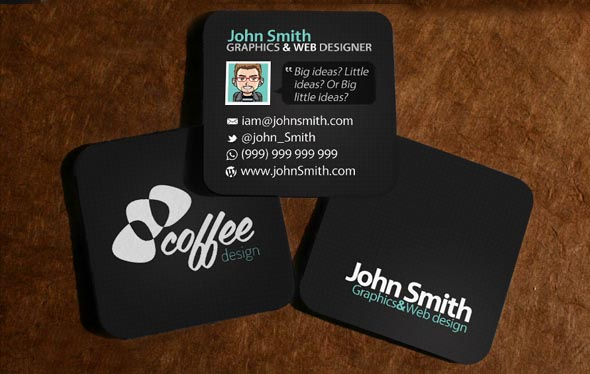 Mini Square Business Cards Design Design Graphic Design Junction - Square business card template