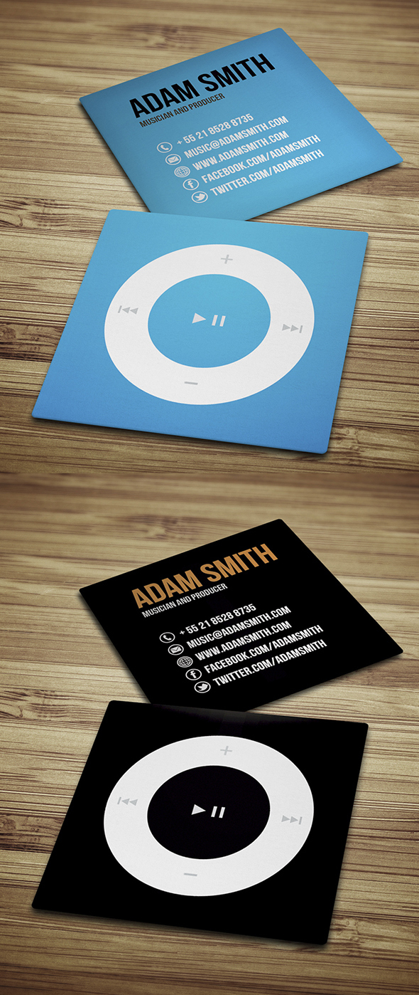 40 Mini Square Business Cards Design | Design | Graphic Design Junction