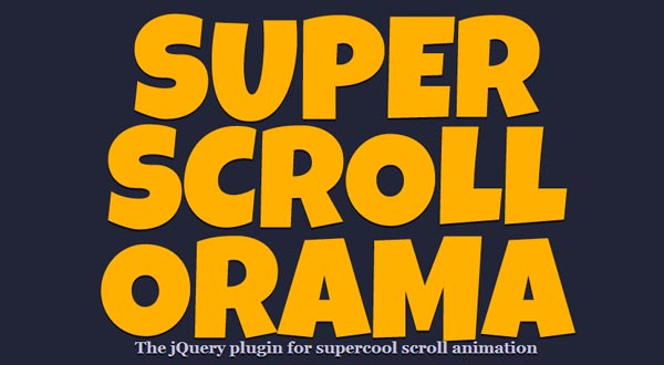 Awesome Scrolling Effects jQuery Plugin: SuperScrollorama