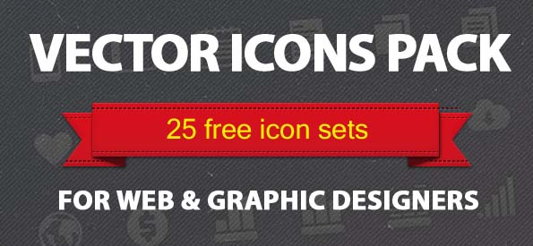 25 Free Vector Icons Pack For Web and Graphic Designers