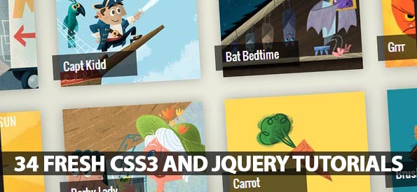34 Fresh CSS3 and jQuery Tutorials