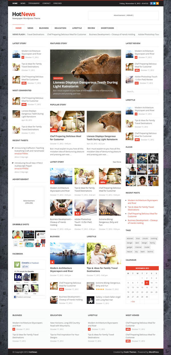 Top Premium Responsive WordPress Themes | Wordpress Themes | Graphic ...