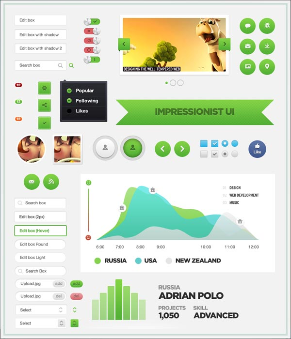 Best UI Kits of 2012 - 1