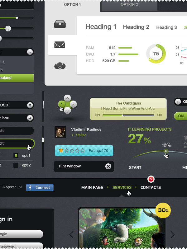 Best UI Kits of 2012 - 11