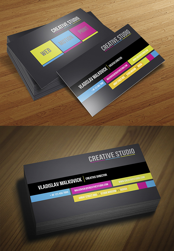 Modern Business Cards Design Design